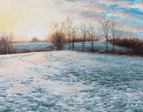 Sunrise Snowfield by  Michael Wheeler - Masterpiece Online