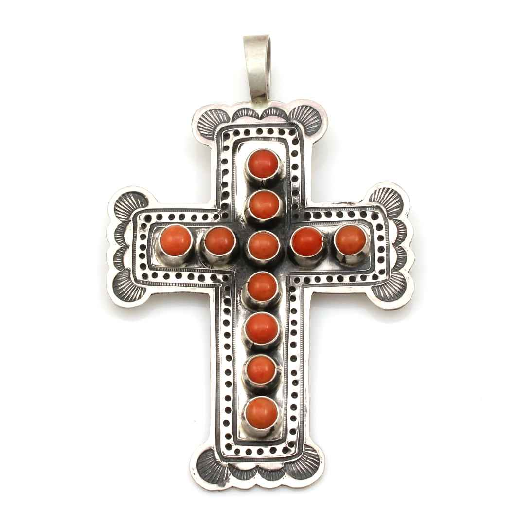 Coral Cross Pendant by  Don Lucas - Masterpiece Online