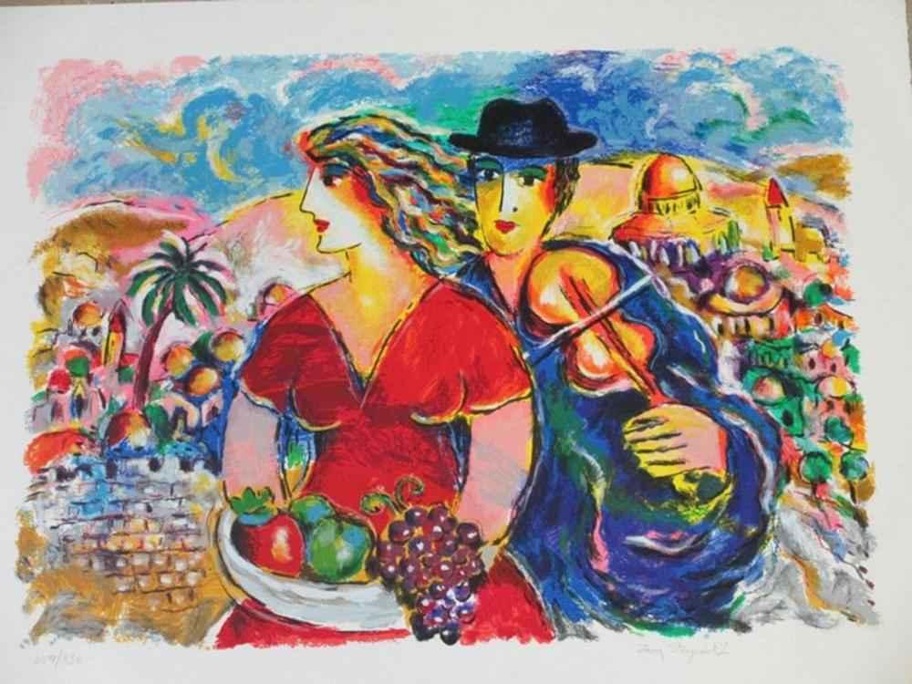 Wedding in Jerusalem ... by  Zamy Steynovitz - Masterpiece Online