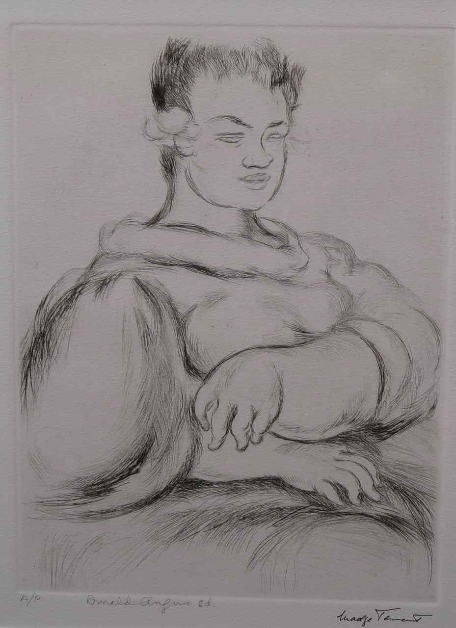 Lady Seated with Neck... by  Madge Tennent (1889-1972) - Masterpiece Online