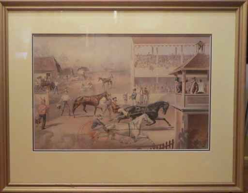 At the Race 2 by   Currier & Ives - Masterpiece Online