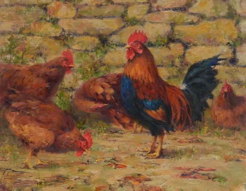 Family Chickens by  Robert A. Johnson, OPAM - Masterpiece Online