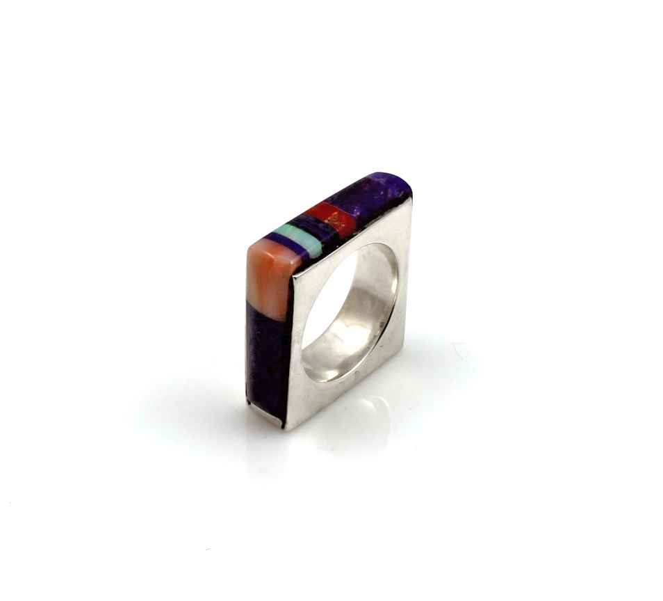 Square Inlay Ring by  Victor Gabriel - Masterpiece Online
