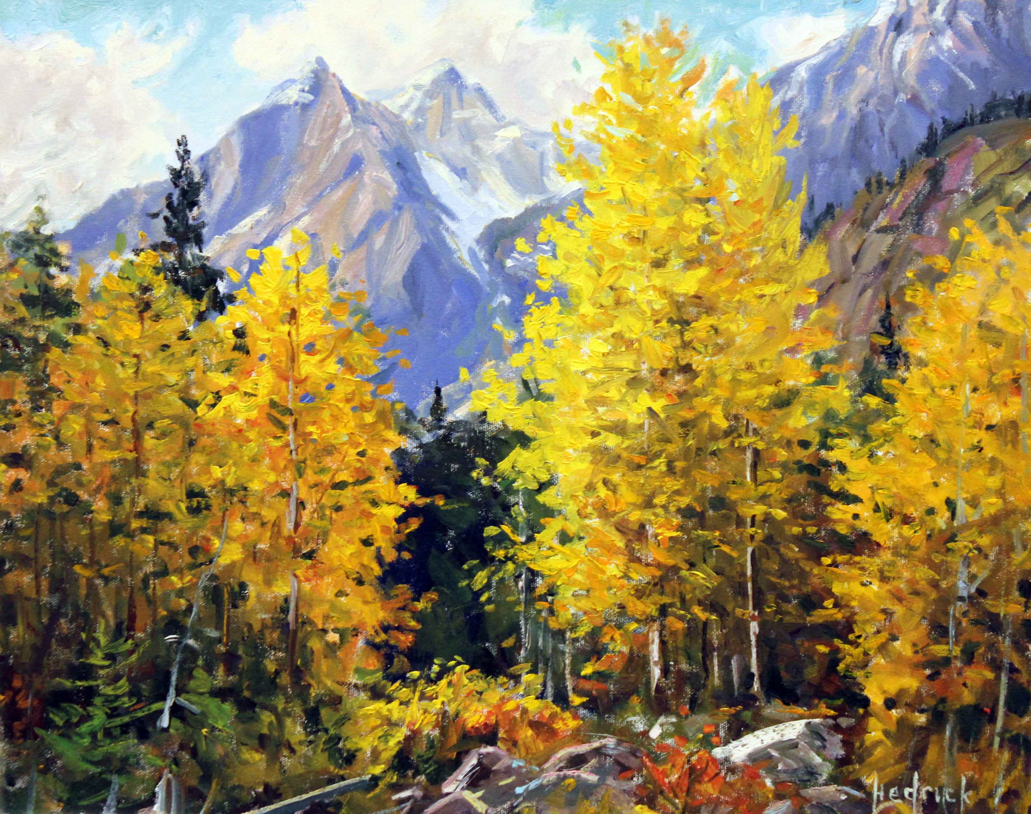 Autumn Peaks  by  Ron Hedrick
