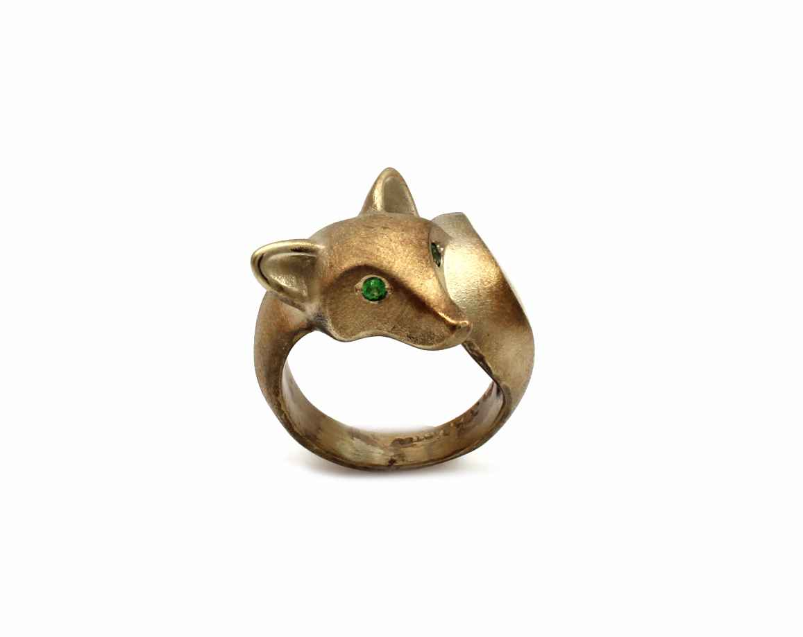 Smooth Fox Bronze Ring by  Michael Tatom - Masterpiece Online