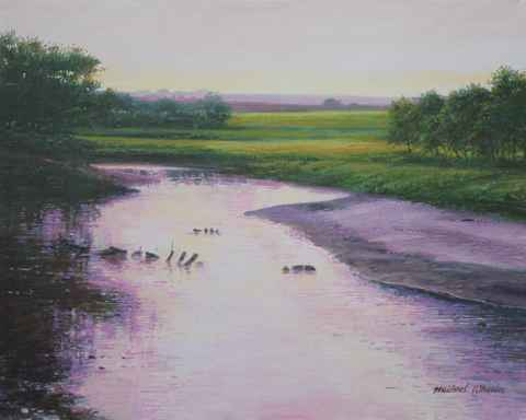 Tranquil River - Lave... by  Michael Wheeler - Masterpiece Online