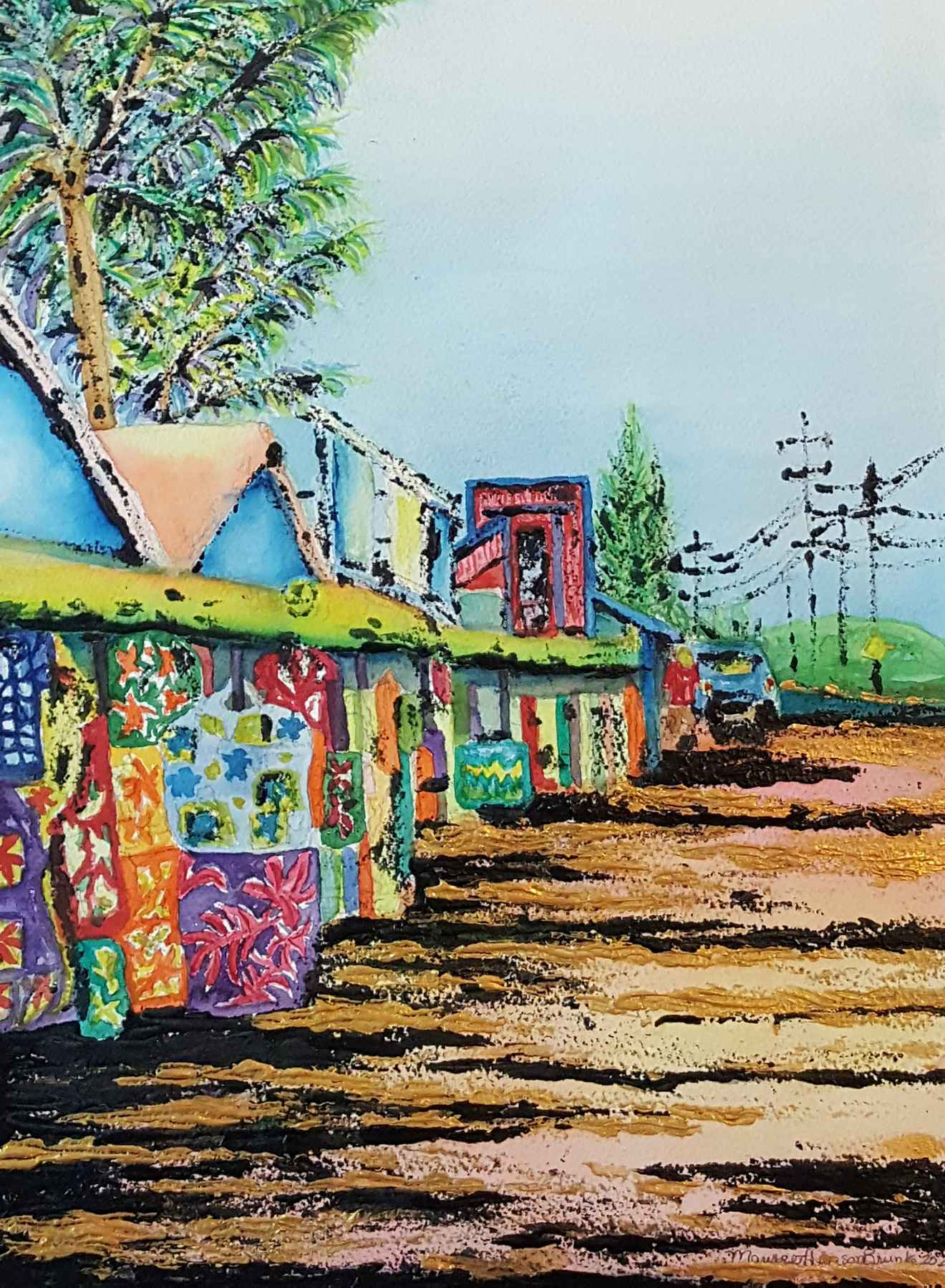 Kauai Street Market by  Maureen Henson-Brunke - Masterpiece Online