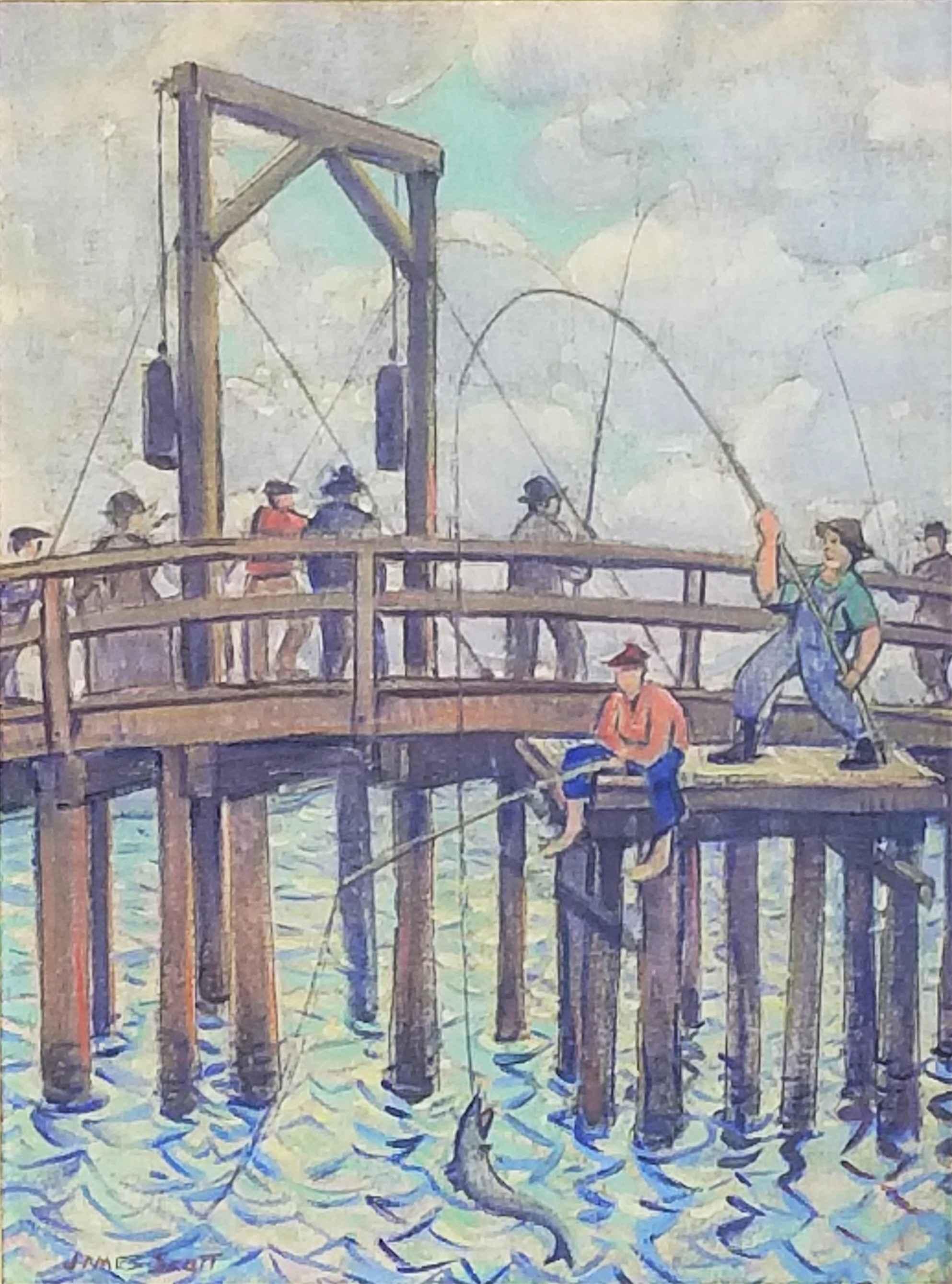 Untitled - Fishermen ... by  James Scott - Masterpiece Online
