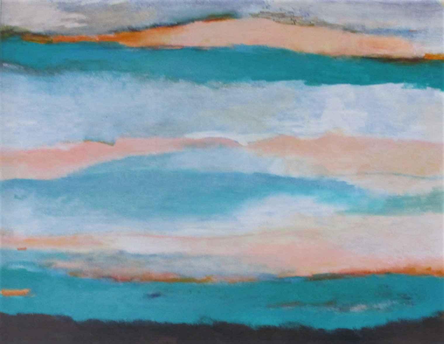 Untitled (Aqua Landsc... by  Bobara Jones - Masterpiece Online