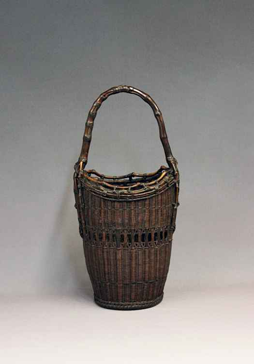 Bamboo Basket with a ...