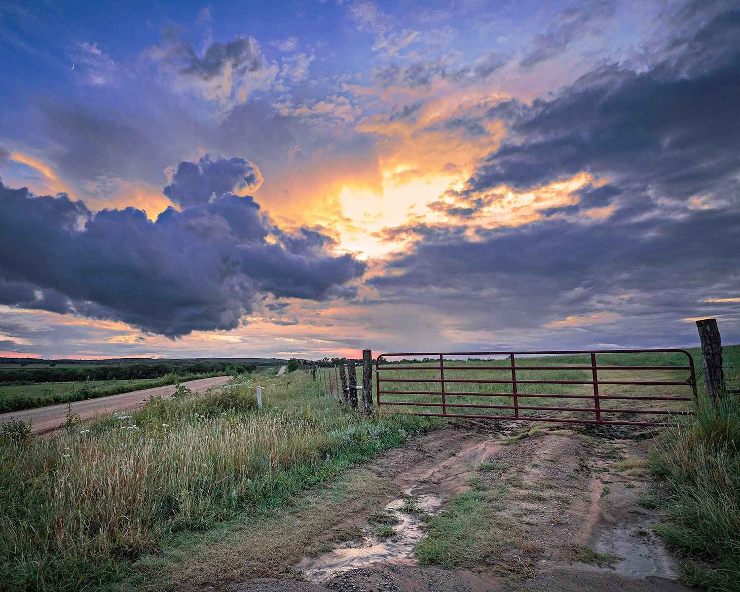 Gate at Sunset by  George Jerkovich - Masterpiece Online