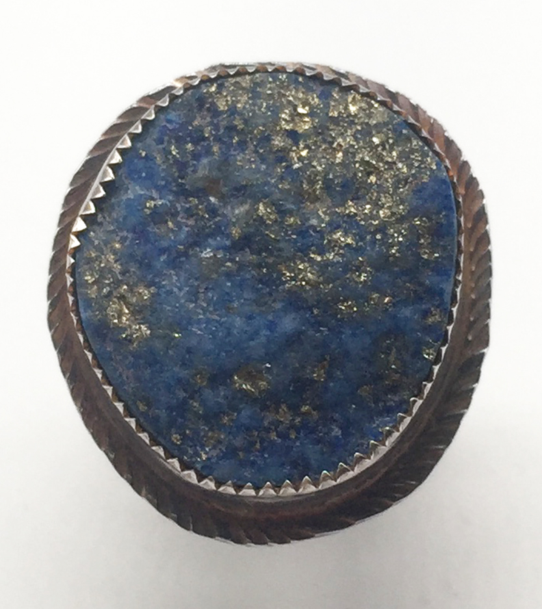 Lapis and Sterling Ring Size 6 1/2