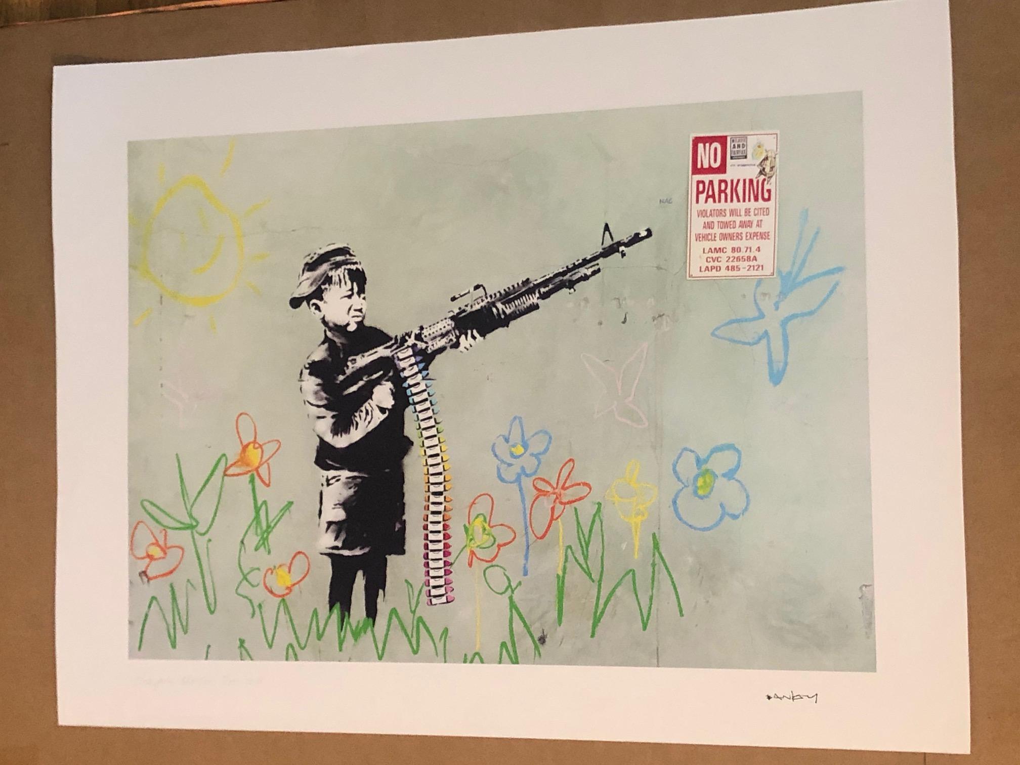 Crayola Shooter by   Banksy - Masterpiece Online