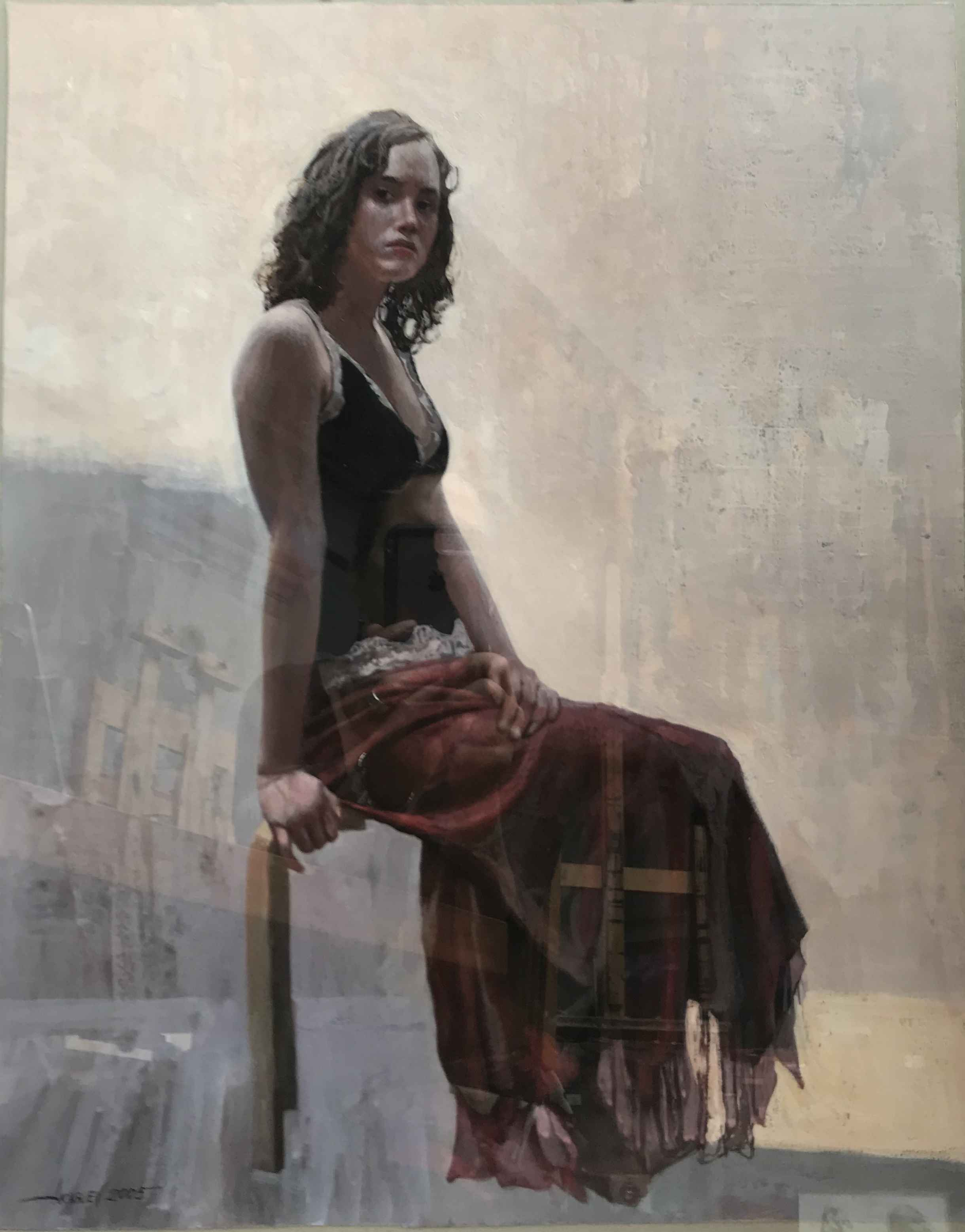 Mary in a Black Top by  Daud Akhriev - Masterpiece Online