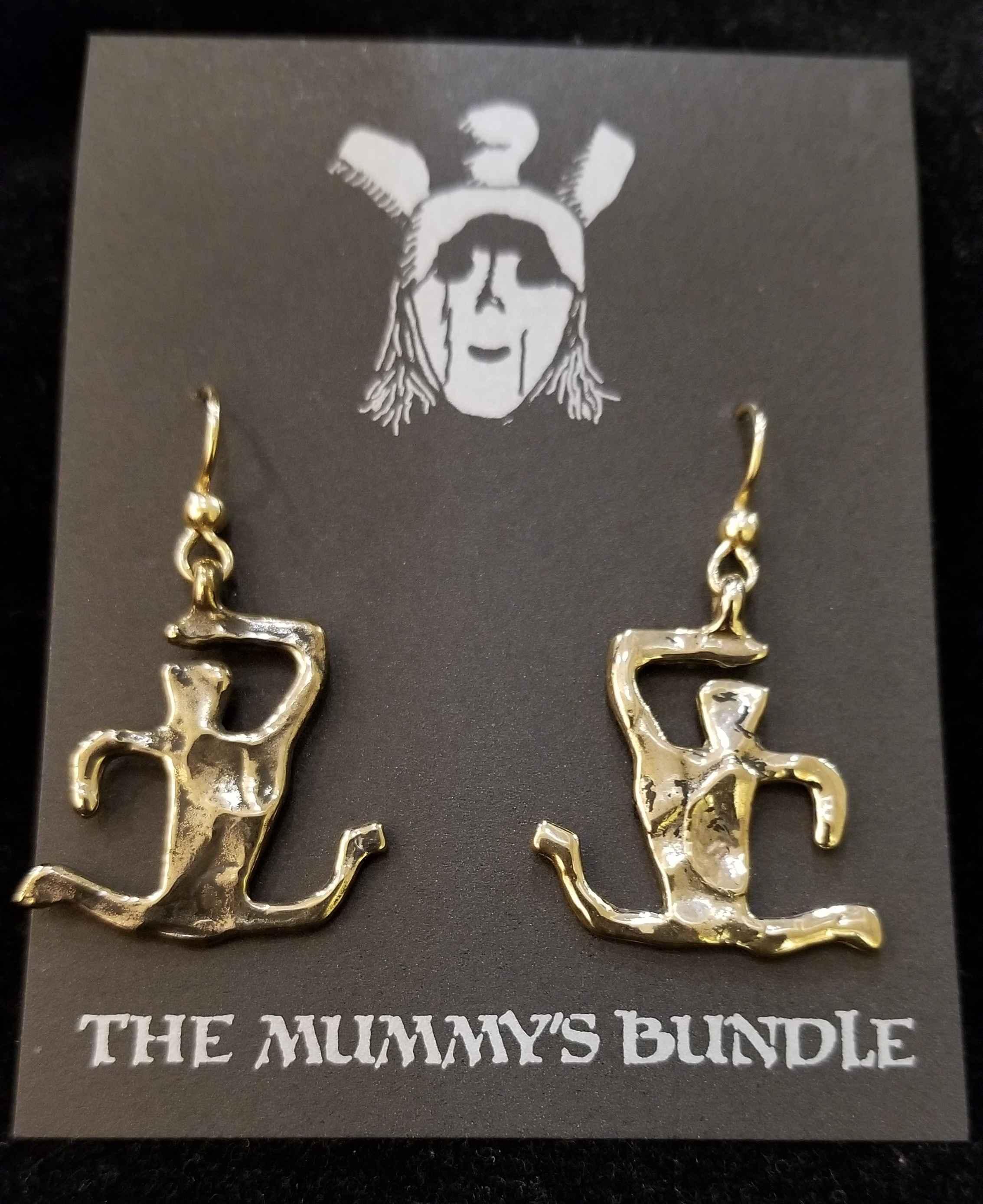 Hurdler Brass Earrings by  Mummy's Bundle - Masterpiece Online