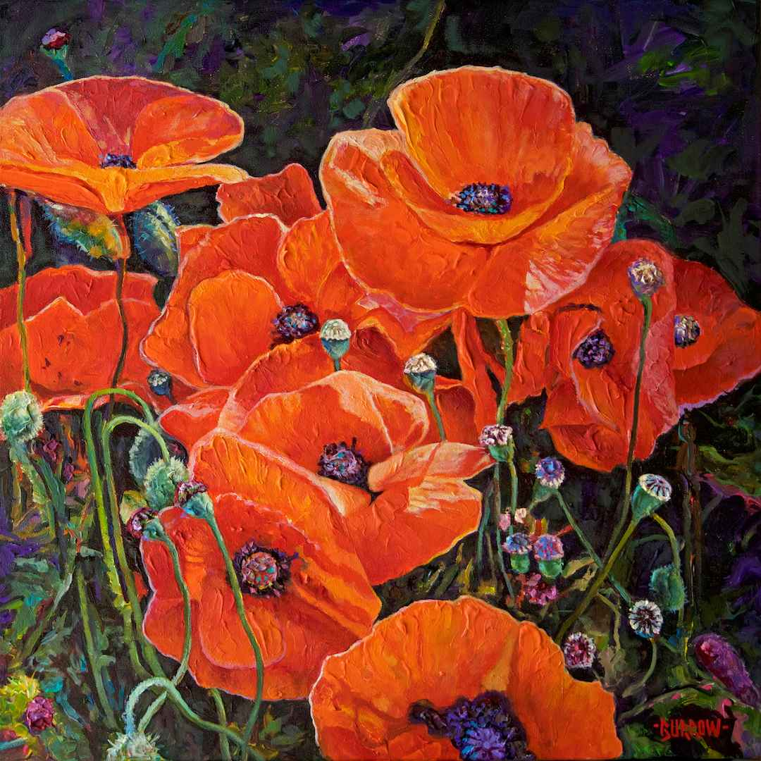 Proud Poppies by Mr John Burrow - Masterpiece Online