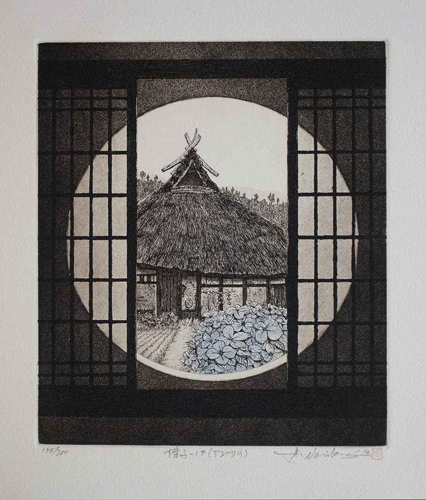 Shoji-17 (Hydrangea) by  Hiroto Norikane - Masterpiece Online
