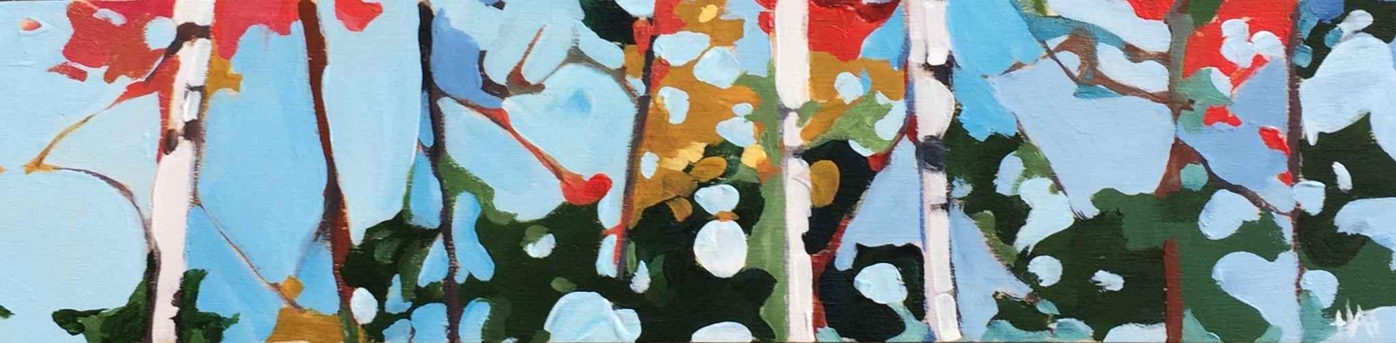 Z Colourful Birch 1 by  Holly Ann Friesen - Masterpiece Online