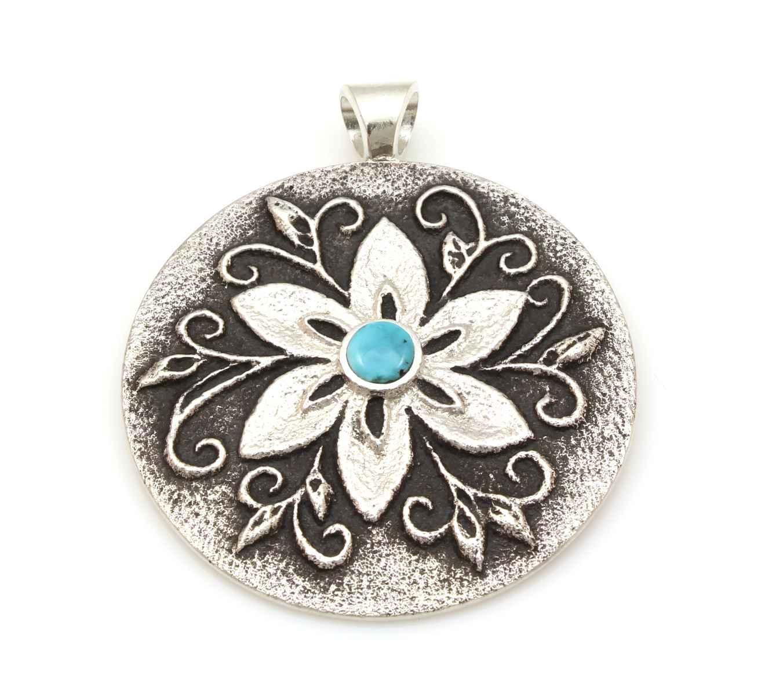 Round Floral Pendant ... by Mr. Darryl Dean & Rebecca Begay - Masterpiece Online