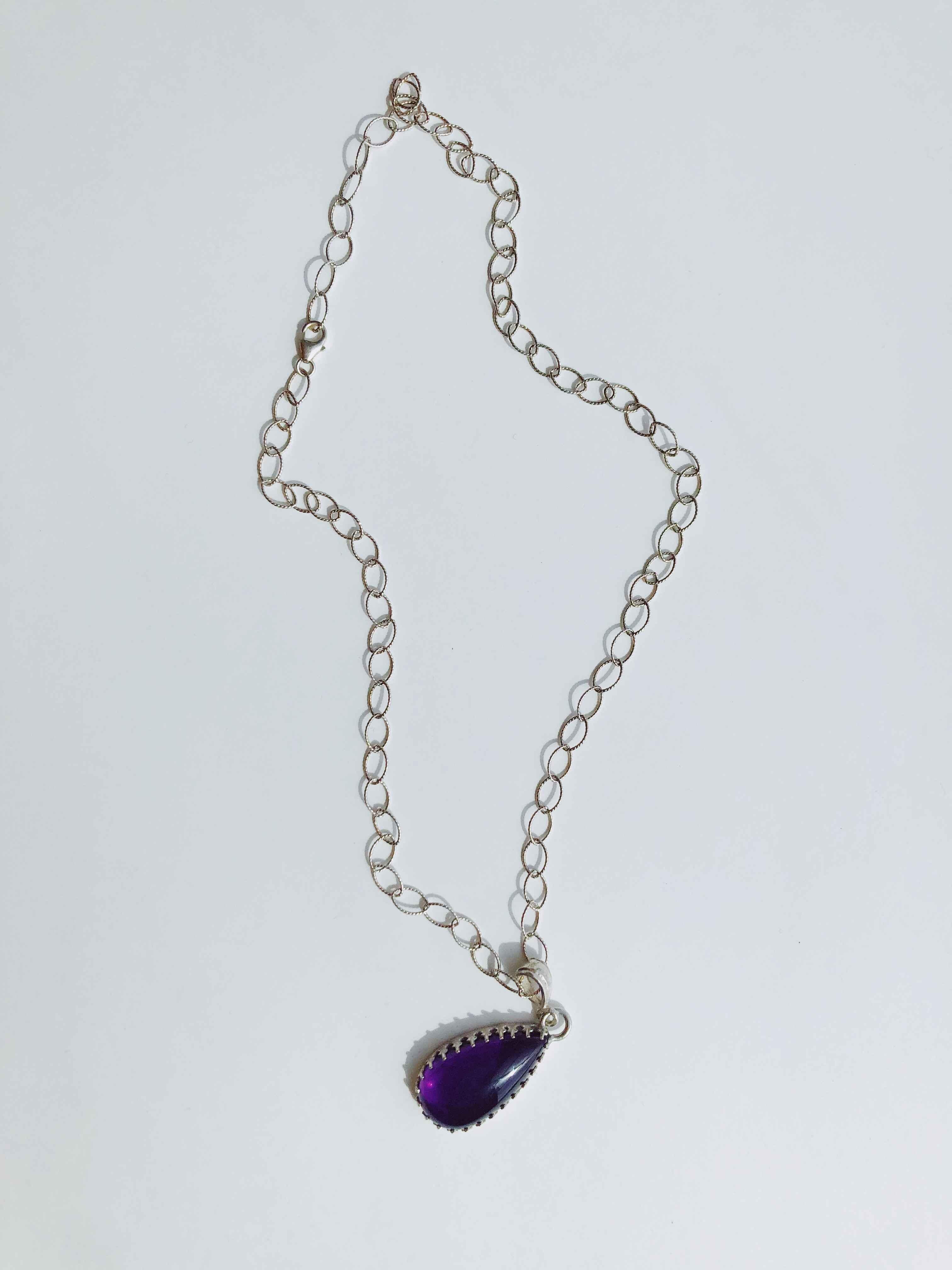 Teardrop Amethyst Pen... by  Cathy Miller - Masterpiece Online