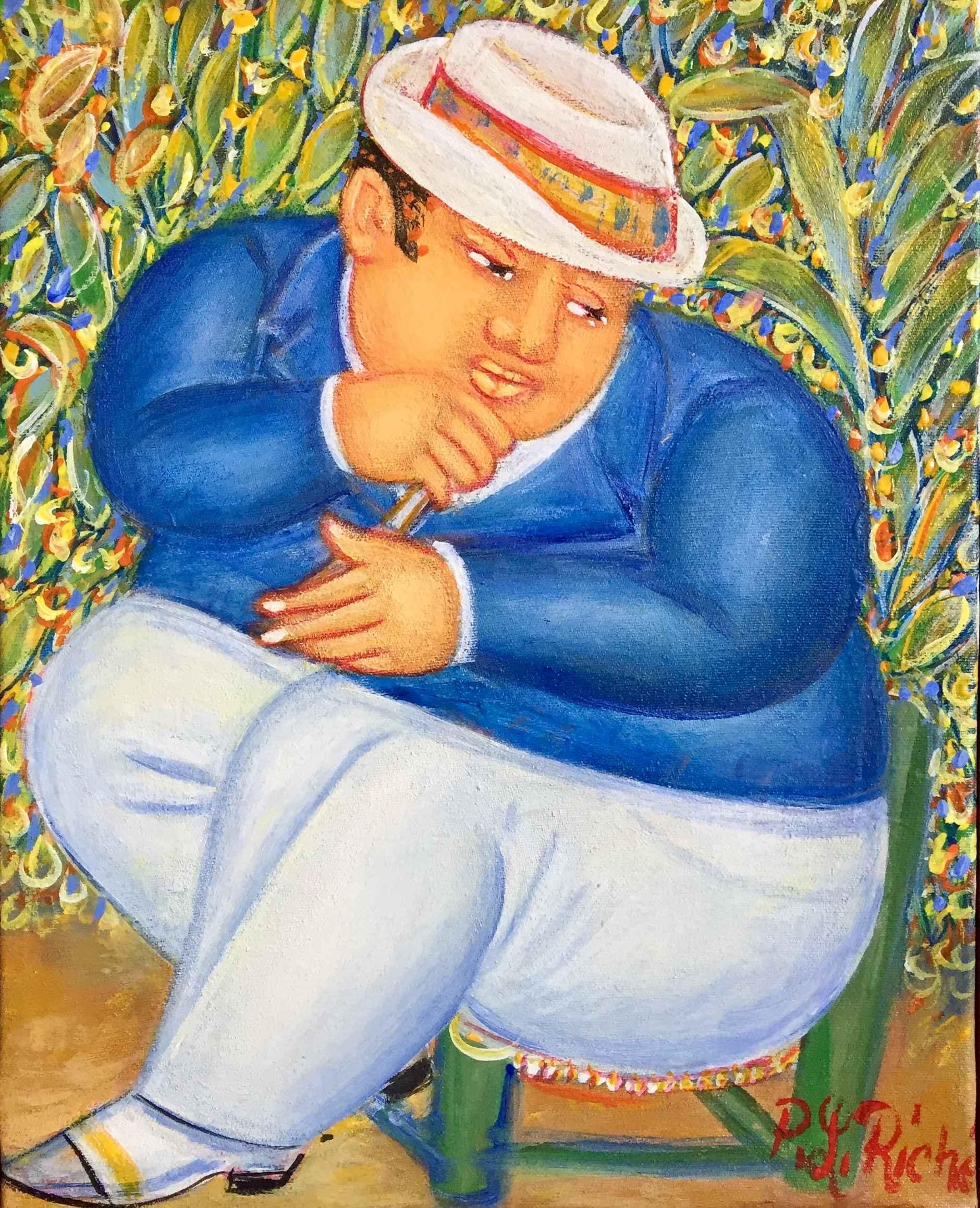 Man with Hat by  Pierre Louis RICHE - Masterpiece Online
