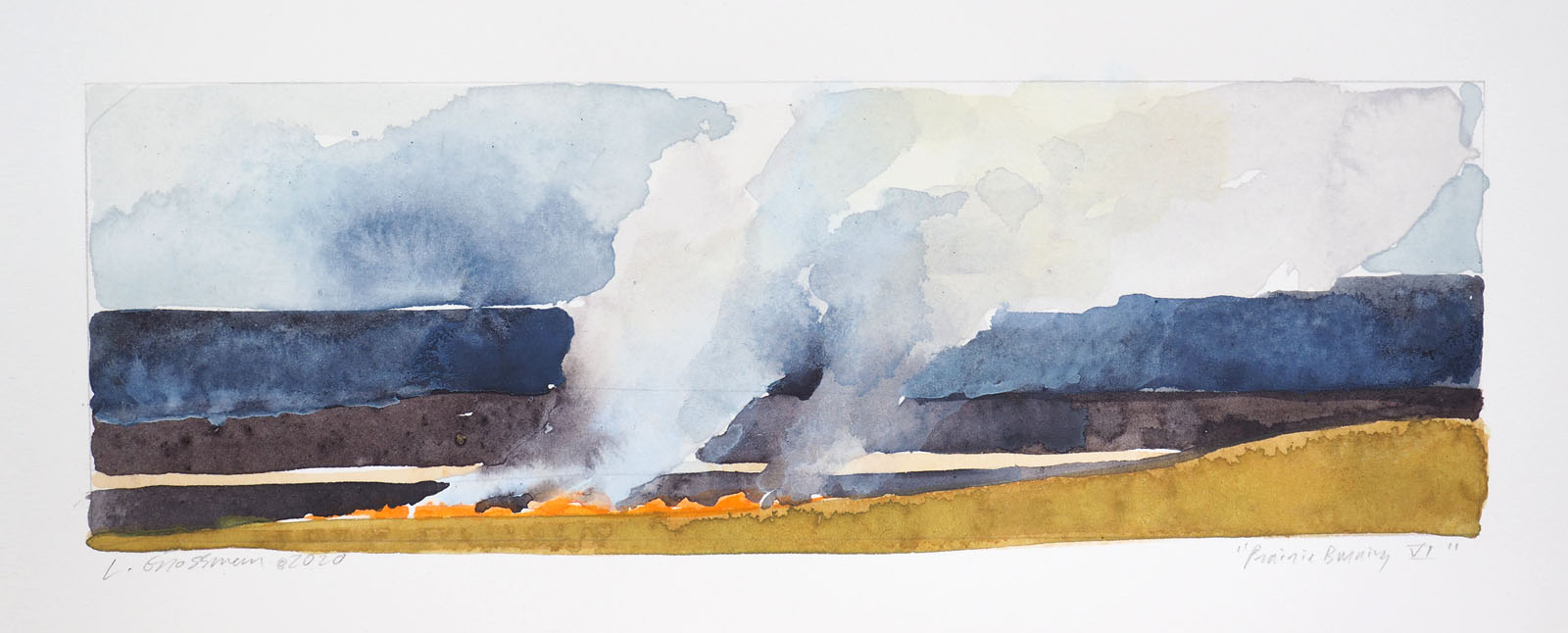 Prairie Burning VI by  Lisa Grossman - Masterpiece Online