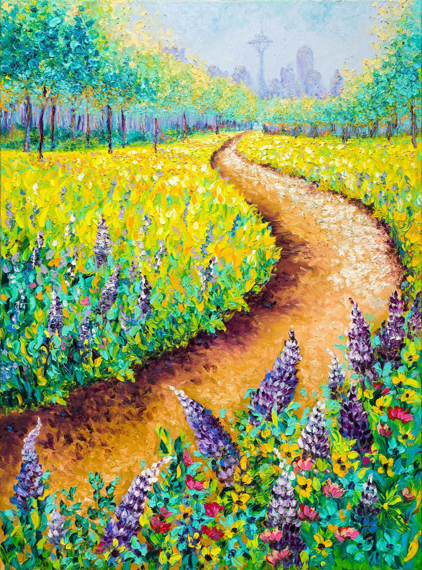 Blooming Lupine by  Kimberly Adams - Masterpiece Online