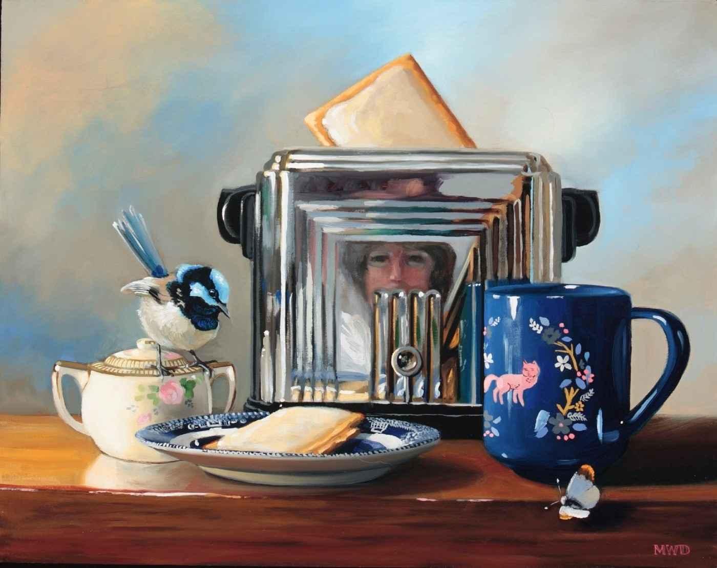 Fairy Wren And Tea by  Michelle Waldele - Masterpiece Online