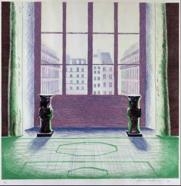 Two Vases at the Louv... by  David Hockney - Masterpiece Online