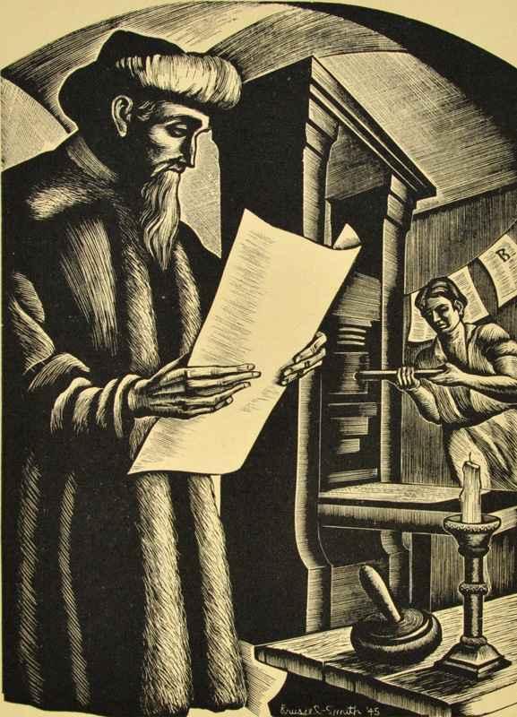 Gutenberg (1945) by  Bernard Brussel-Smith (1914-1989) - Masterpiece Online