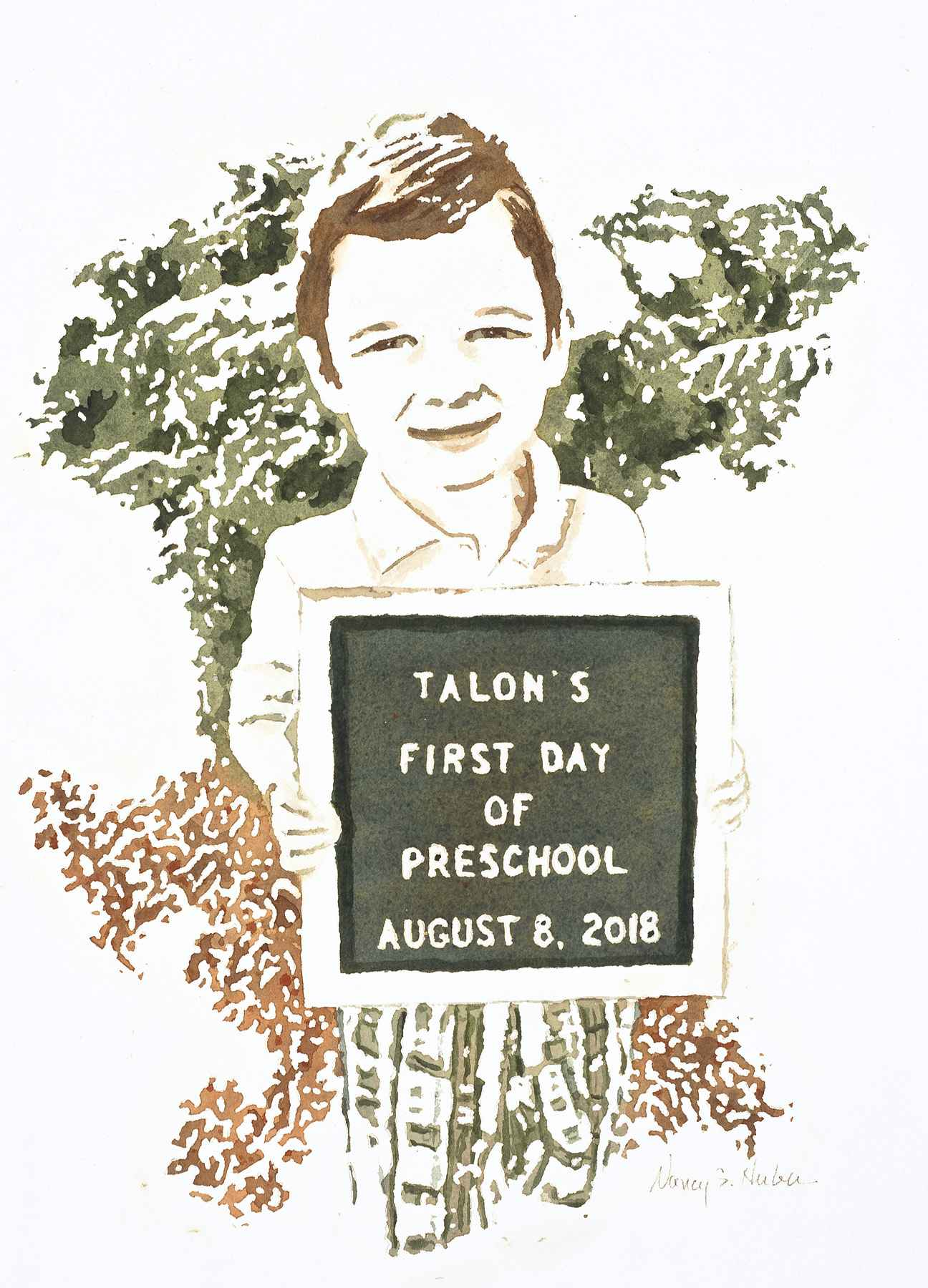 Talon's First Day by  Nancy Huber - Masterpiece Online