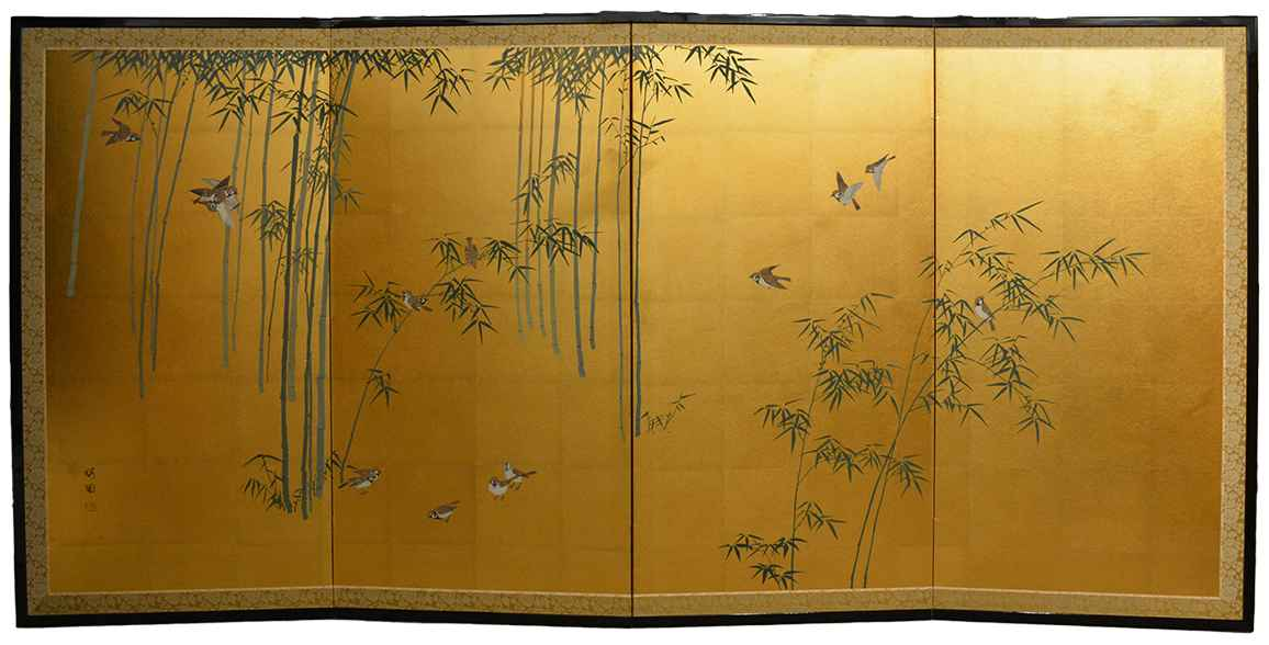 Bamboo and Sparrows 2 by  Oh-en Tanaka - Masterpiece Online