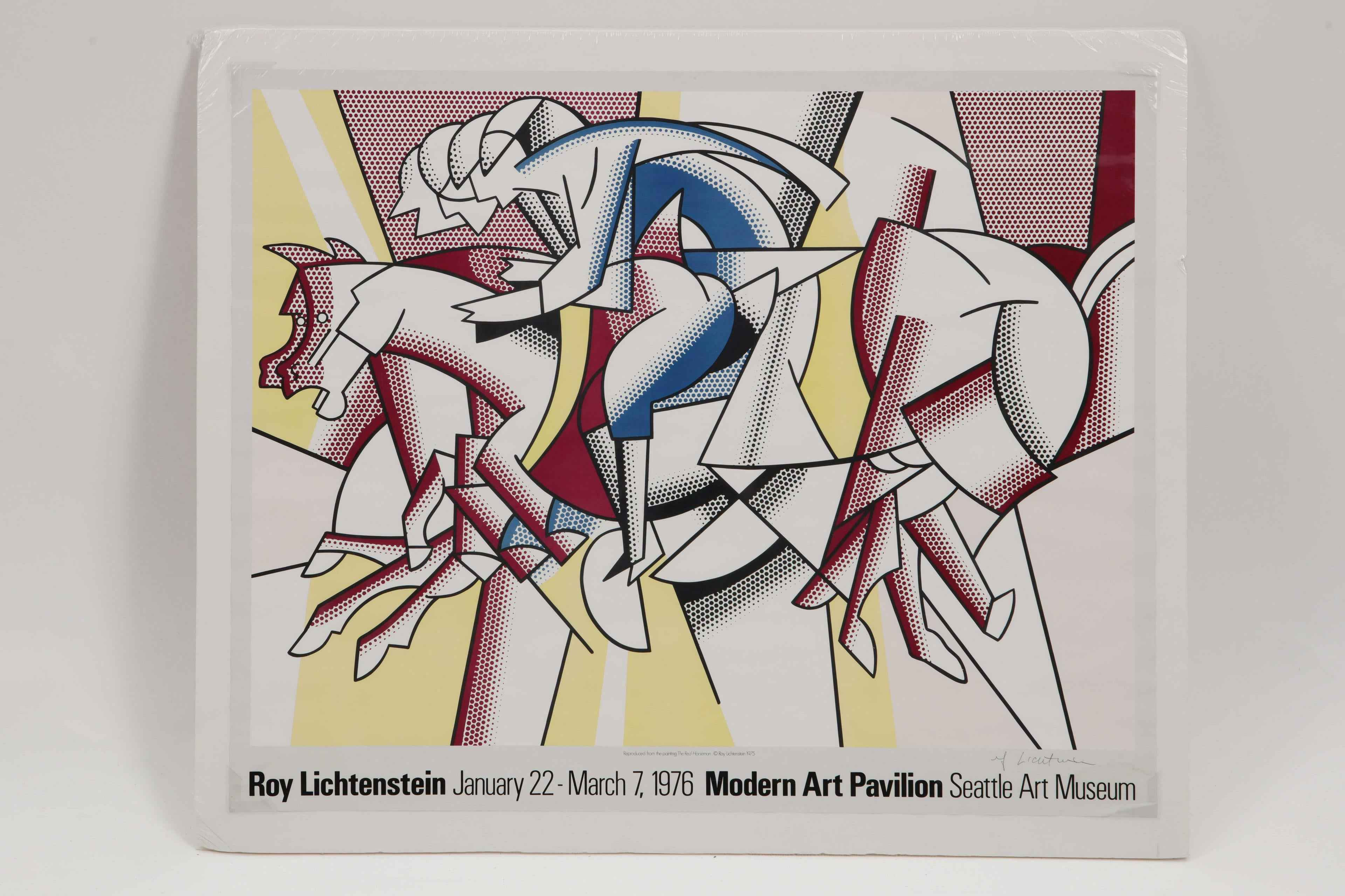 Red Horseman by  Roy Lichtenstein - Masterpiece Online