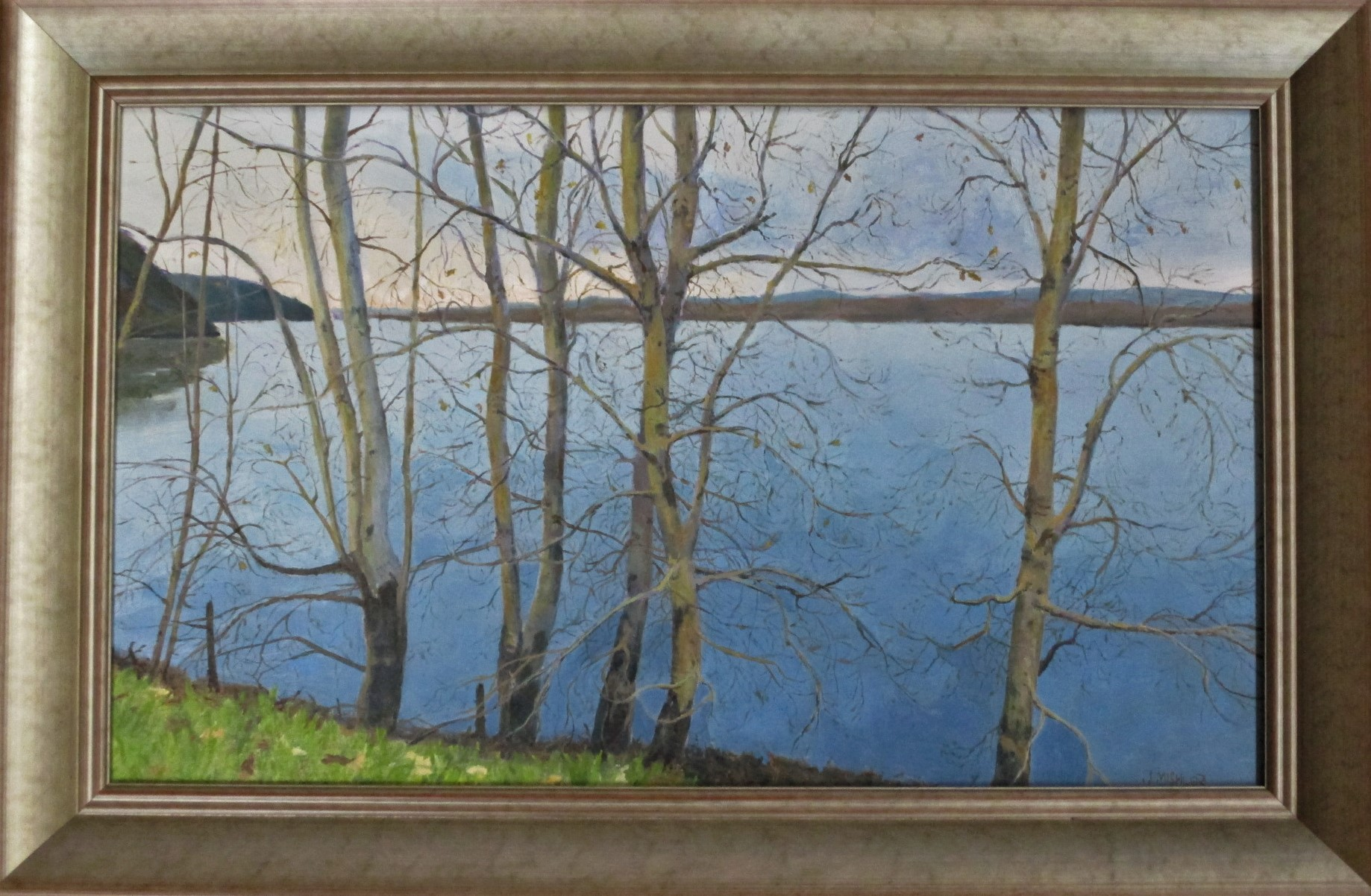 Winter on the River by  Jerry Mishler - Masterpiece Online