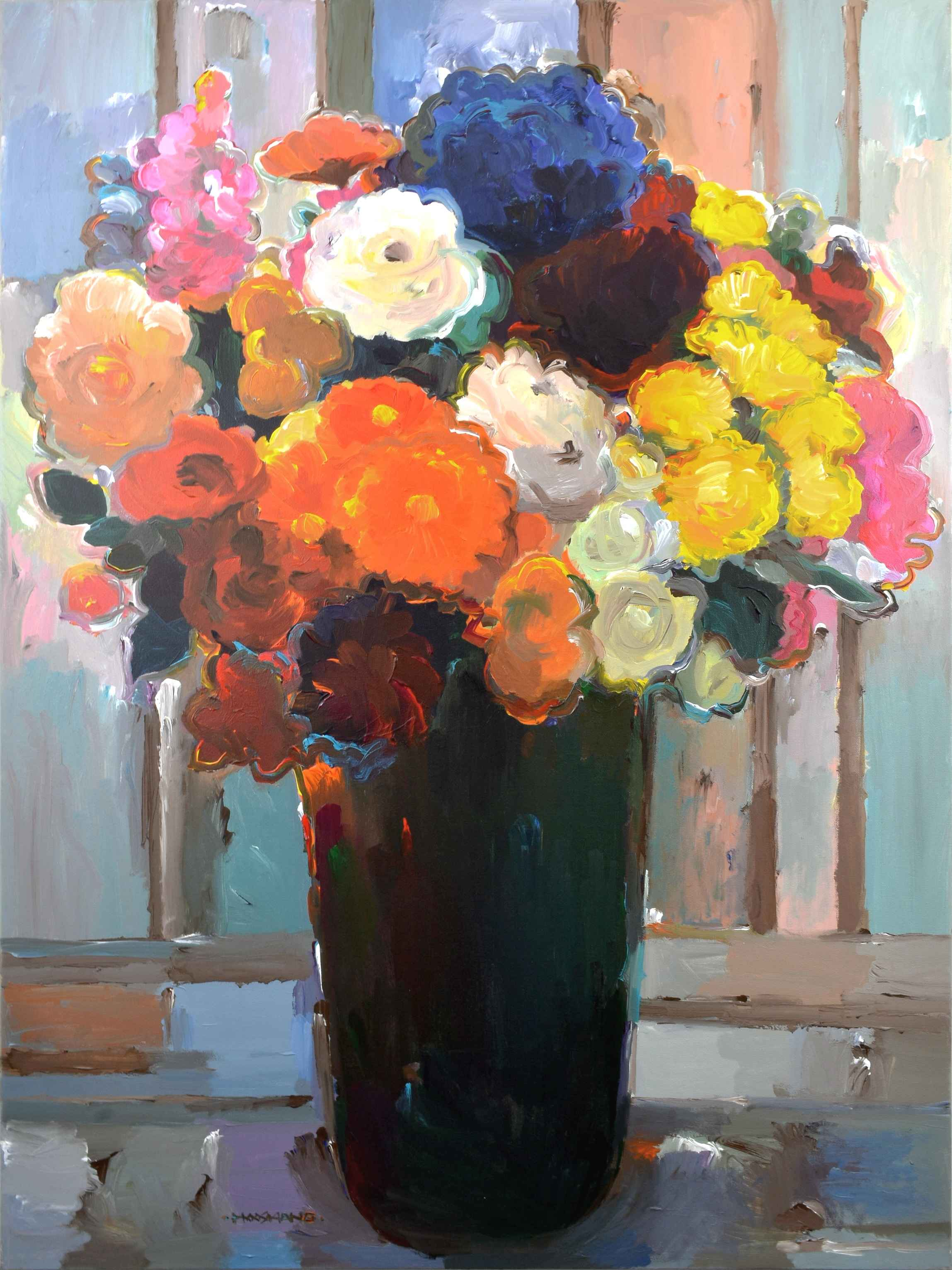 Bouquet of Many Colors by  Hooshang Khorasani - Masterpiece Online