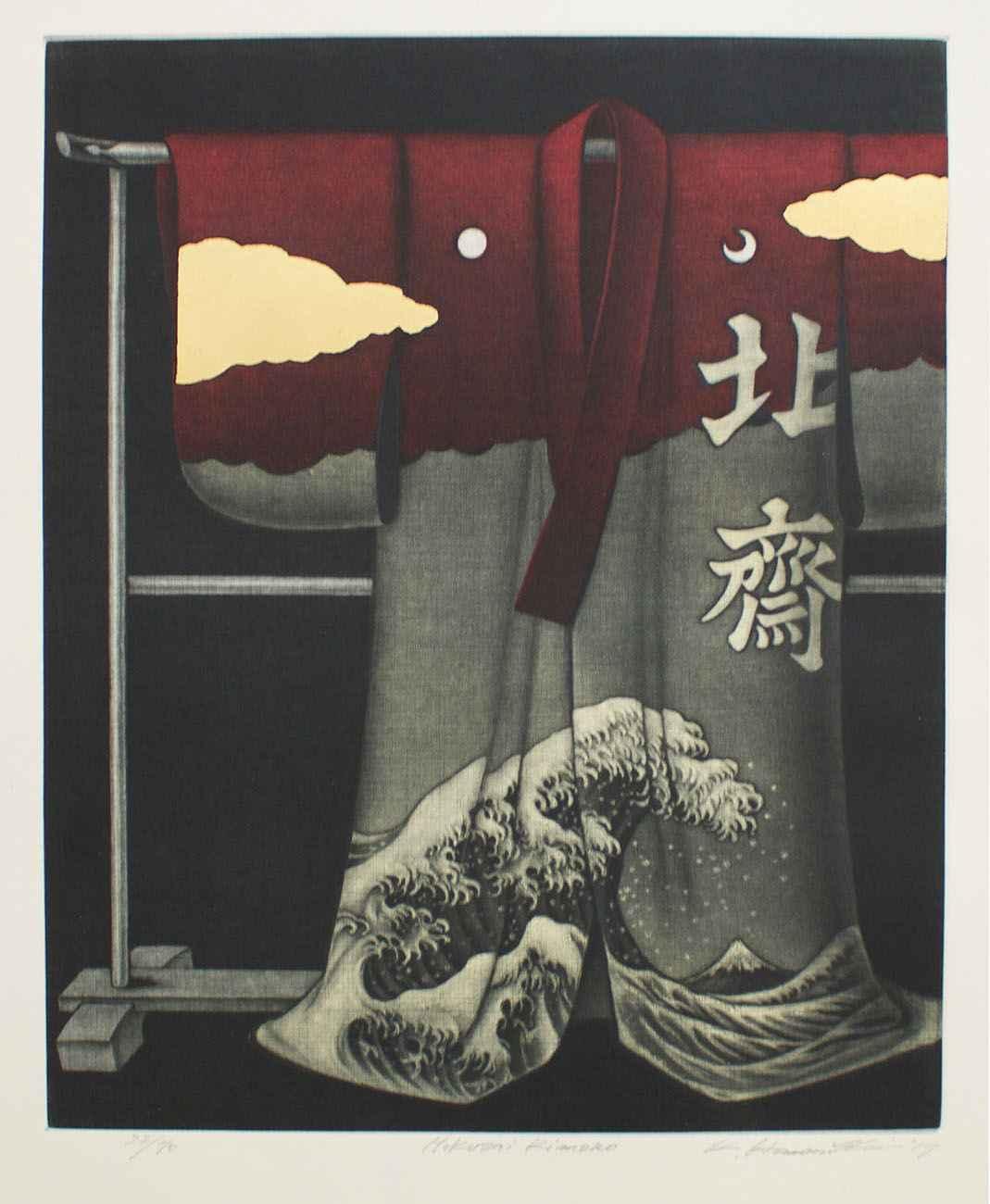Hokusai Kimono by  Katsunori Hamanishi - Masterpiece Online
