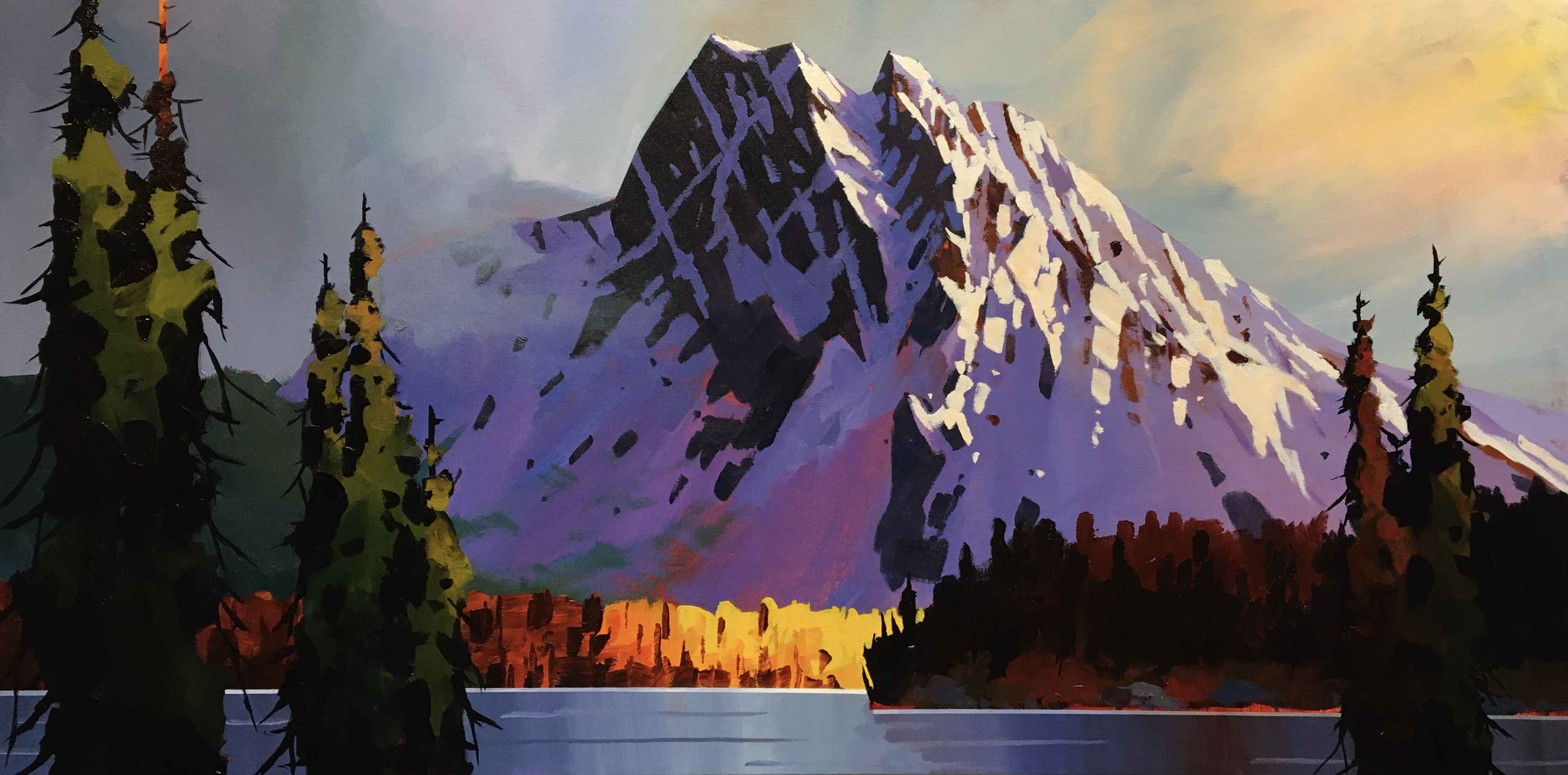 Emerald Lake Late Fall by  Branko Marjanovic - Masterpiece Online