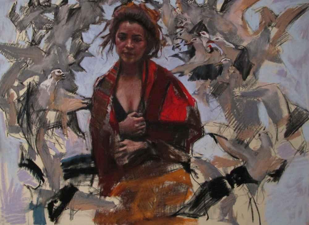 Gossip (Pastel) by  Daud Akhriev - Masterpiece Online