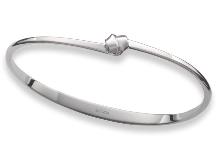 Petite Love Knot Bracelet Sterling Silver, size M