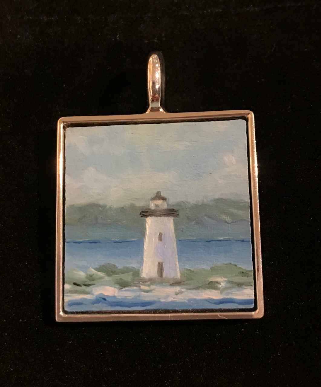 #314 sm sq lighthouse by  Nell Mercier - Masterpiece Online