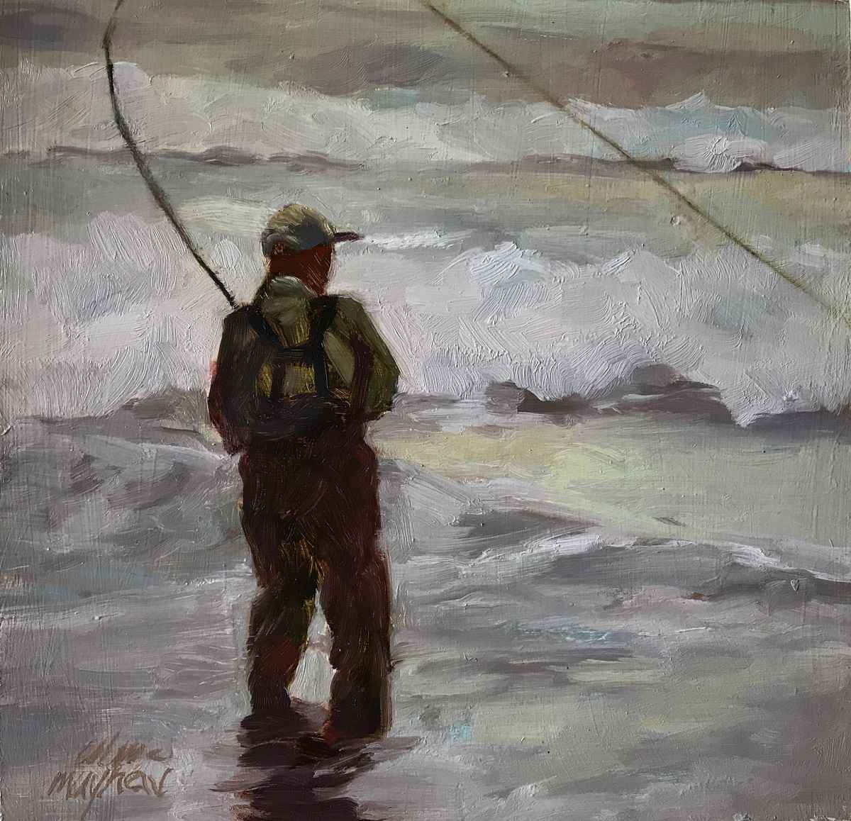 Surf Fishing by  Mary Ulm Mayhew - Masterpiece Online