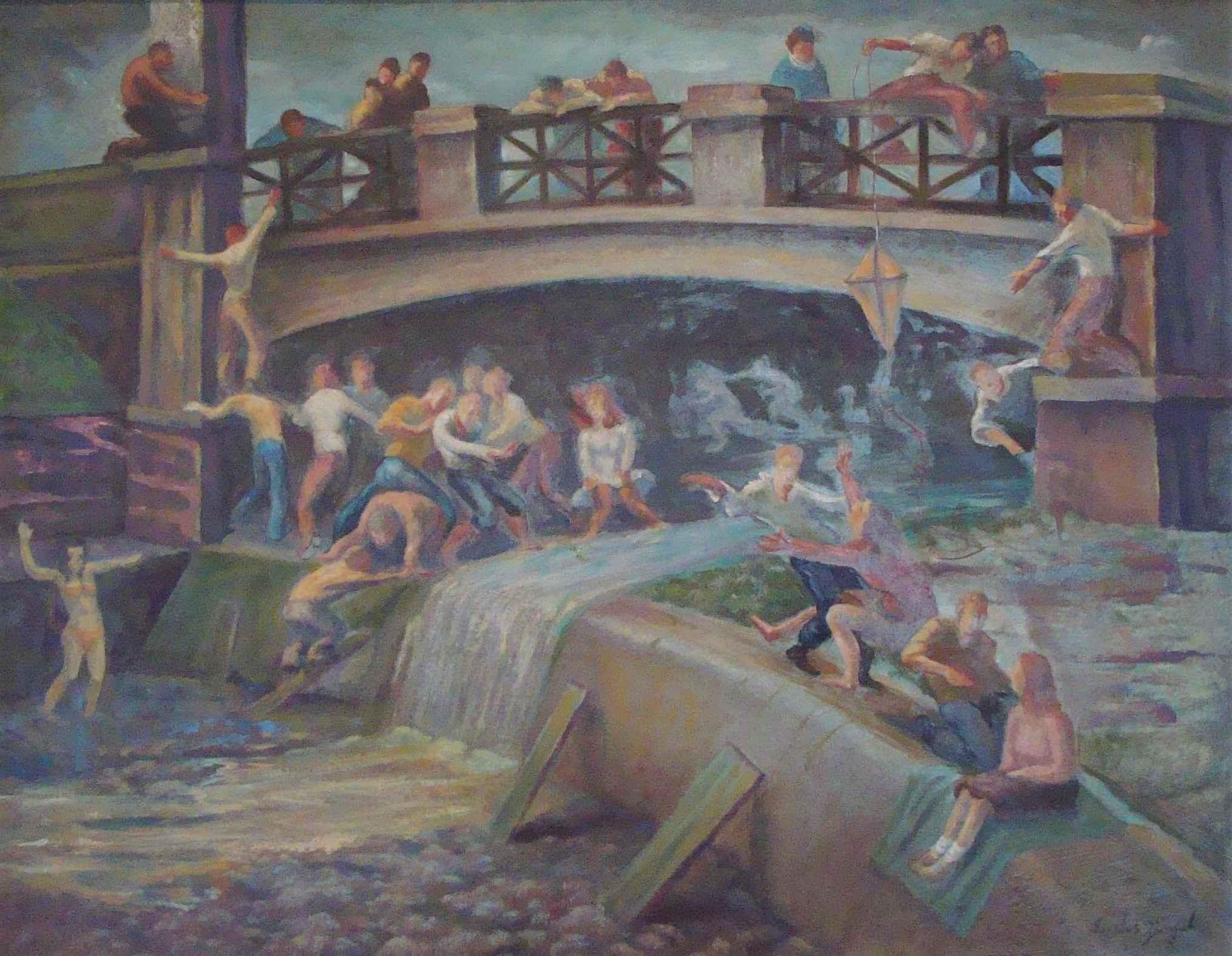 Fun at the Bridge by Mr. Santos Zingale - Masterpiece Online