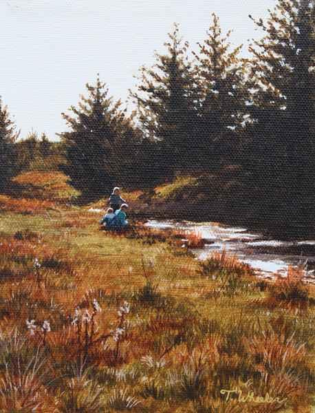 Playing at the Creek ...  by   Teresa  Wheeler