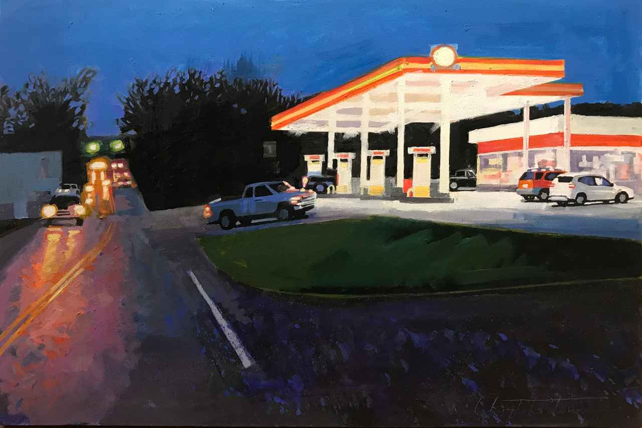 My favorite gas stati... by  Christopher Peterson - Masterpiece Online