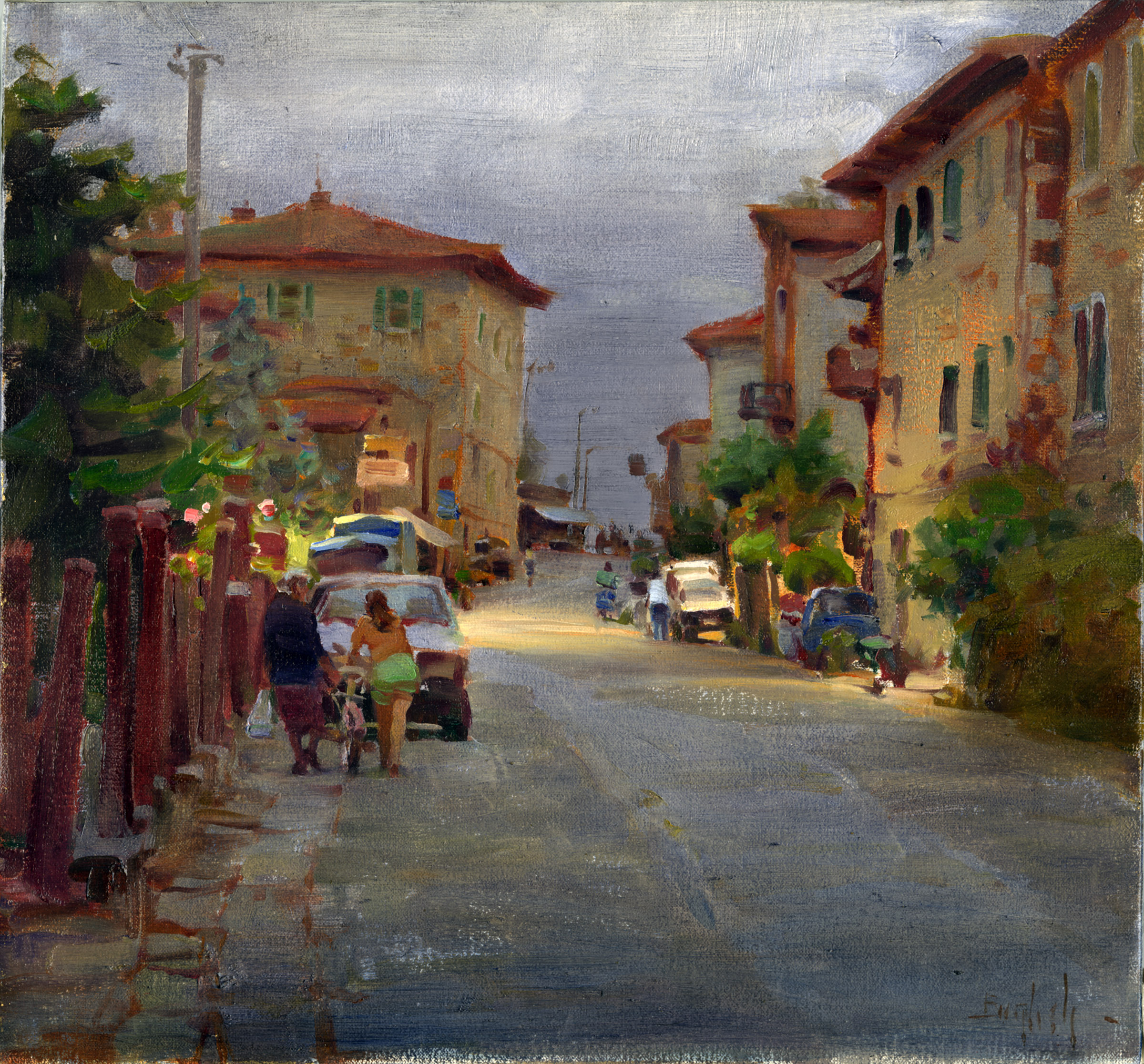 A Village in Italy by  Kim English - Masterpiece Online