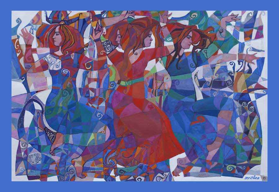 Dancers Large Wrap by  Daud Akhriev - Masterpiece Online
