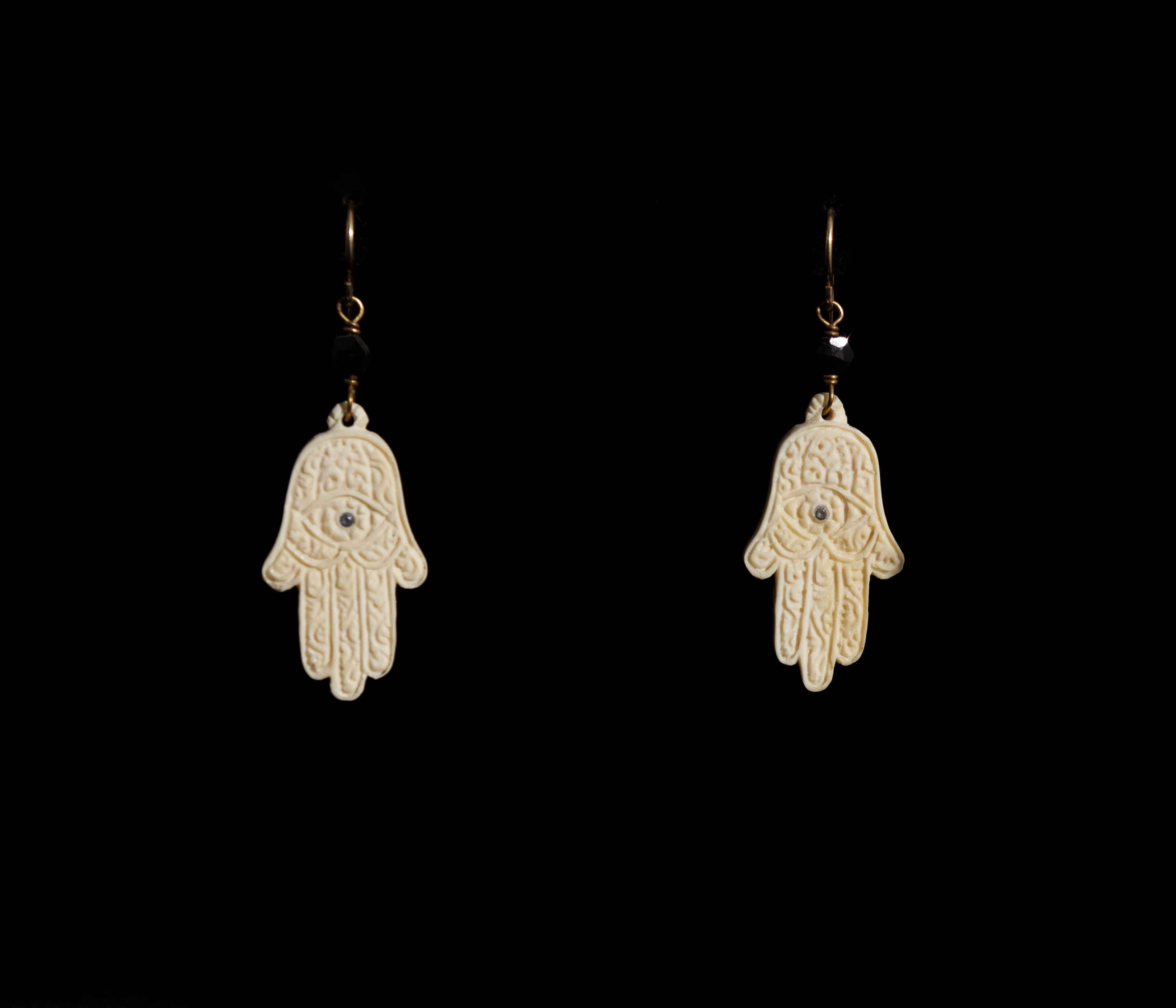 Hamsa Earrings by  Susan Tereba - Masterpiece Online