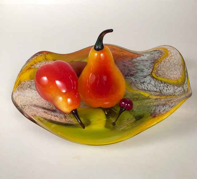 Plate with Two Pears ...  by  Audrey Handler