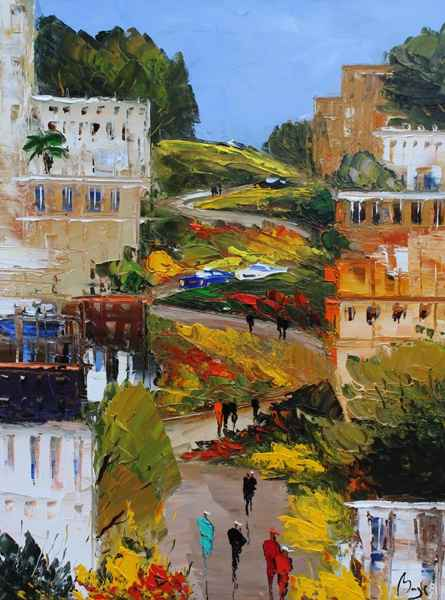 Lombard Street by  Louis  Magre - Masterpiece Online