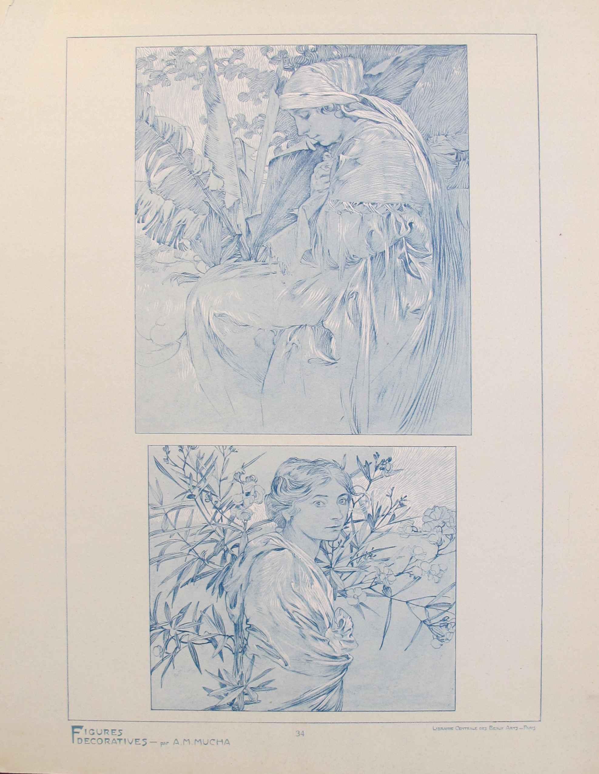 1902 Original Vintage... by  Alphonse Mucha - Masterpiece Online